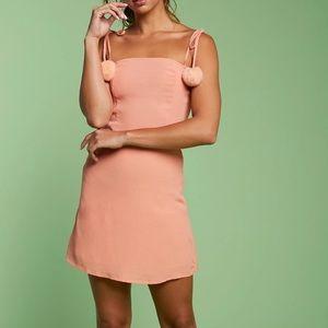 trueimg • pink Pom Pom dress nwt